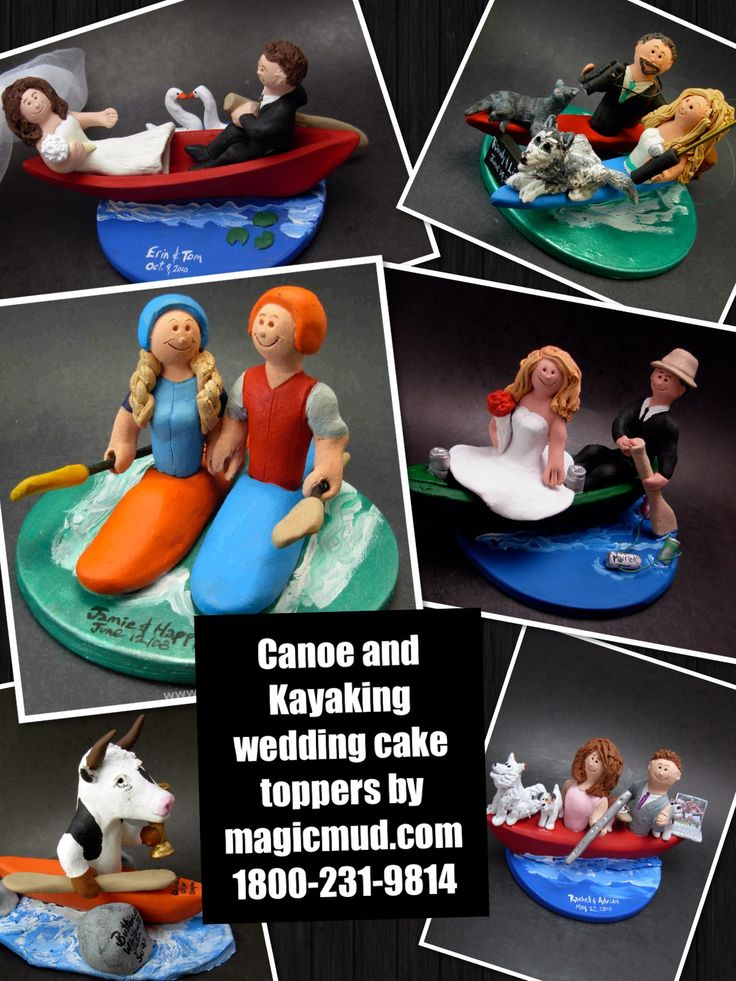 Kayak and canoe wedding cake toppers by www.magicmud.com 1 800 231 9814 magicmud@magicmud... blog.magicmud.com twitter.com/... $235 #canoe #kayak #canoeing #wedding #cake #toppers #custom #personalized #Groom #bride #anniversary #birthday #weddingcaketoppers #caketoppers #figurine #gift http://custom-wedding-cake-toppers.tumblr.com/ http://instagram.com/weddingcaketoppers https://www.facebook.com/PersonalizedWeddingCakeToppers https://twitter.com/caketoppers