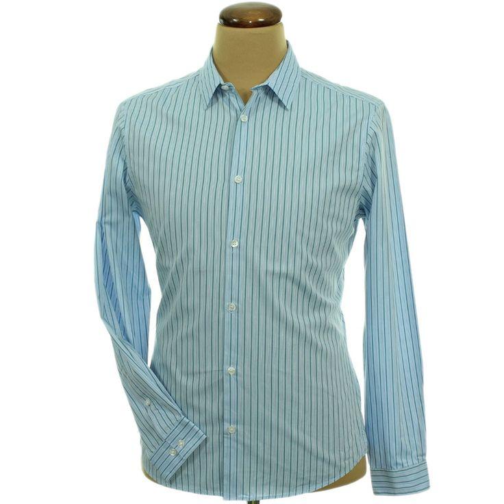H&M csíkos kék ing | Felső, pulóver, ing - Férfi ruha