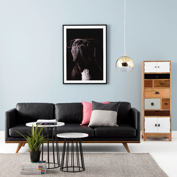 Add a splash of colour ! Our BOULEVARD sofa and PORTO storage making a statement look #interior #decorate #livingroom #style #modern #home