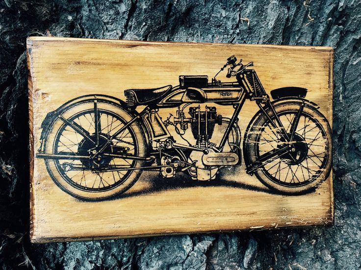 Excited to share the latest addition to my #etsy shop: Vintage Norton OHV 500 Motorcycle Wooden Picture Home Decor Wall Art Wooden Artwork