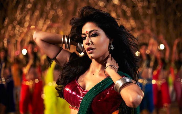 Descargar fondos de pantalla Chitrangda Singh, Bollywood, la actriz India, 4k, de la India saris, el maquillaje, el vestido de la India