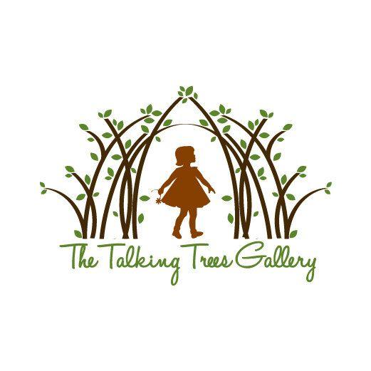 Charming Custom Logo Design   Business Logo Brand   Graphic Design Logo   Girl In  Woods Logo