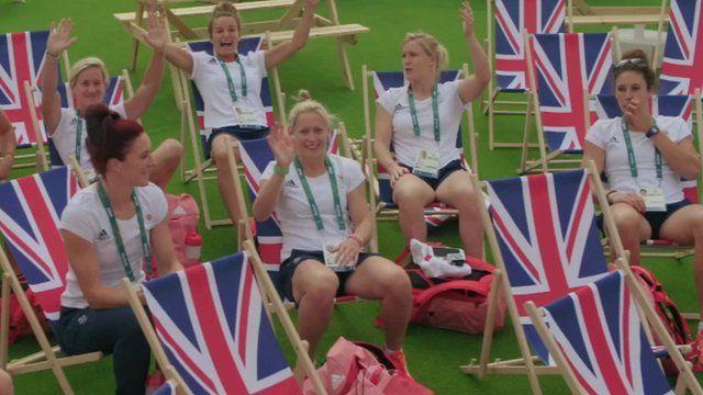 Team GB athletes inside the Olympic Village Rio 2016