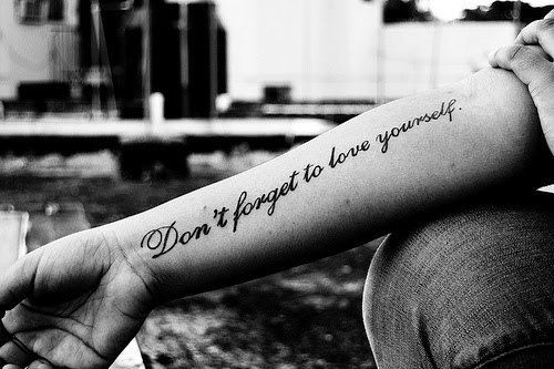 """""""don't forget to love yourself""""....something I forget to do, I look after my family but rarely do I do stuff for me"""