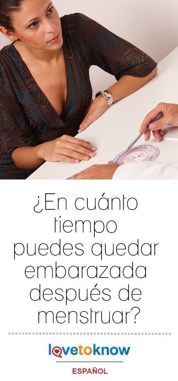 Es posible quedar embarazada poco después de que termine la menstruación, dependiendo de cuánto tiempo dure tu sangrado y cuando ovules en tu ciclo menstrual. #embarazo #fertilidad #mujer | ¿En cuánto tiempo puedes quedar embarazada después de menstruar? via #LoveToKnowEspañol