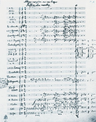 """Gustav Mahler: first page of his Symphony No.6 (sometimes called """"The Tragic"""") in A minor = A2SO Season Finale Apr 27 http://www.a2so.com/concerts/mainstage_concerts/mahler"""