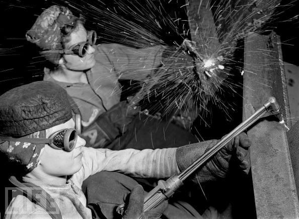 WWII women welding