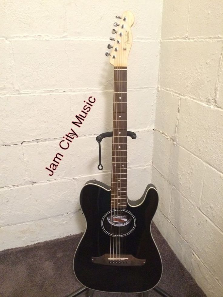 #Fender #Telecoustic Standard Acoustic-Electric Guitar Gloss Black Tele Telecaster #Fender