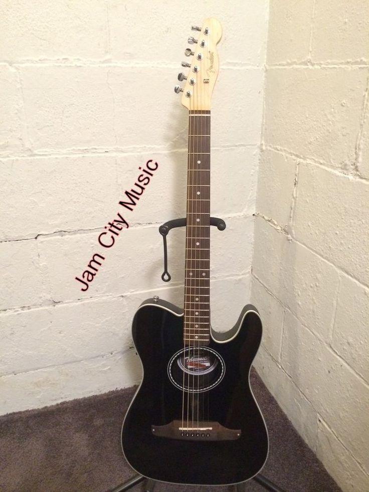 #Fender #Telecoustic Standard Acoustic-Electric Guitar Gloss Black Tele Telecaster #Fender