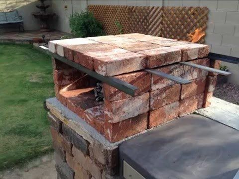 Diy portable brick pizza oven is an easy at home low cost for Diy brick projects