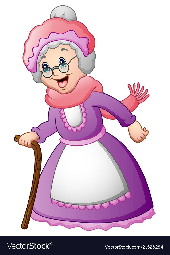 Illustration Of Old Woman With Walking A Stick Download A Free Preview Or High Quality Adobe Illustrat Kids Cartoon Characters Cartoon Little Red Ridding Hood