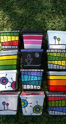 Hermosas macetas cuadradas. Diseño por marianagadi www.facebook.com/mgdmarianagadi