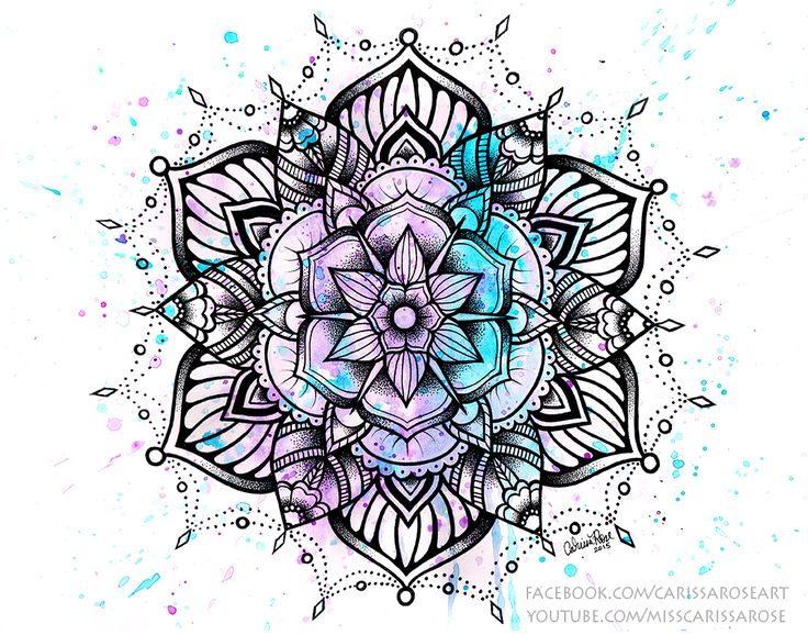 Mandala II by misscarissarose on DeviantArt
