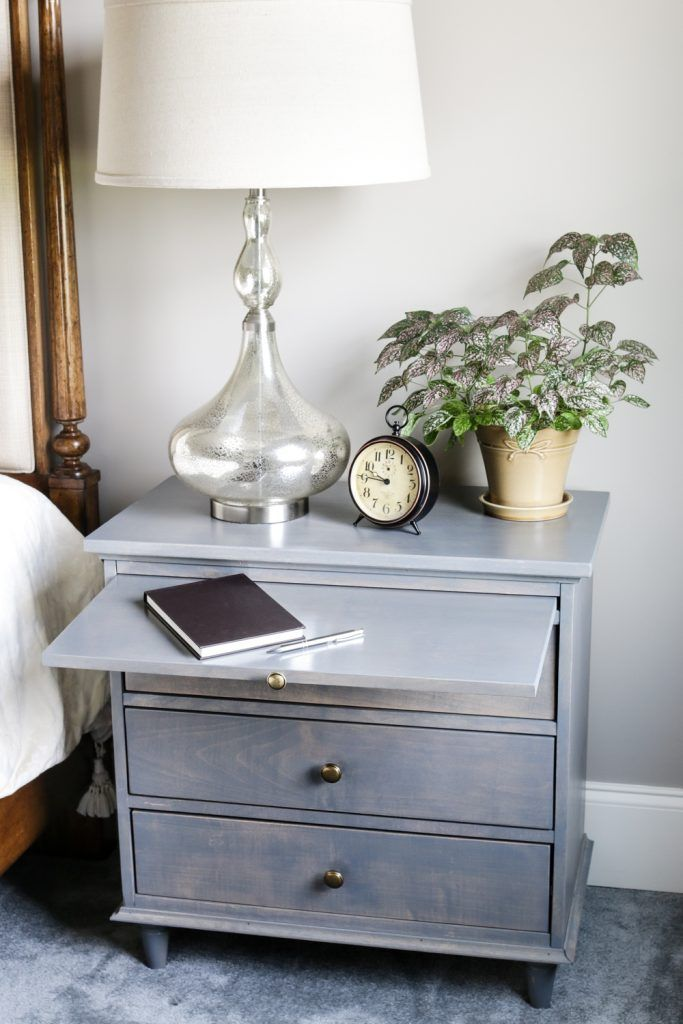 DIY Nightstand Plans with Pull-Out Writing Tray