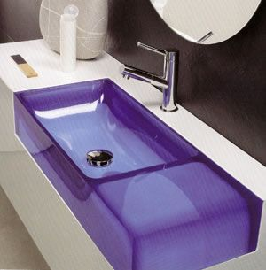 Purple sink...awesome!!