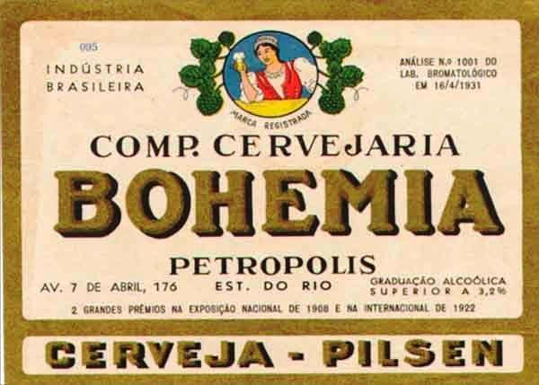 Cerveja Bohemia - beer label