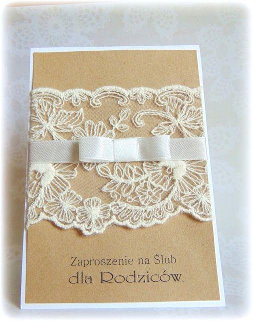Little Joy handmade by Sylwia: Rustykalne zaproszenia ślubne