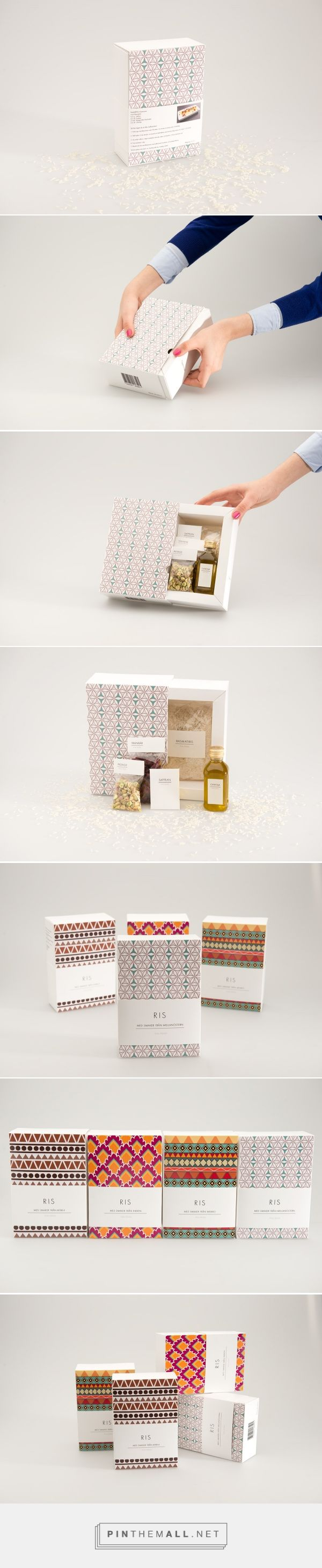 Rice of the World on Behance by Michelle Nilsson curated by Packaging Diva PD. A clean and nice look for a little nicer rice as a gift. With different spices.