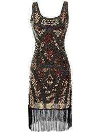 eforpretty 1920er Retro Stil inspiriert Pailletten-verziertes gefranstes Gatsby Flapper Kleid für Abschlussball