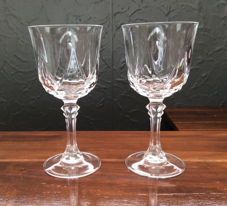 Crystal wine glasses, once again paid around $3 each. I love crystal :)