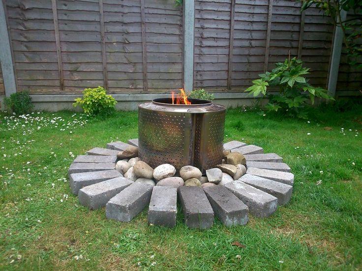 washing machine wood burner project