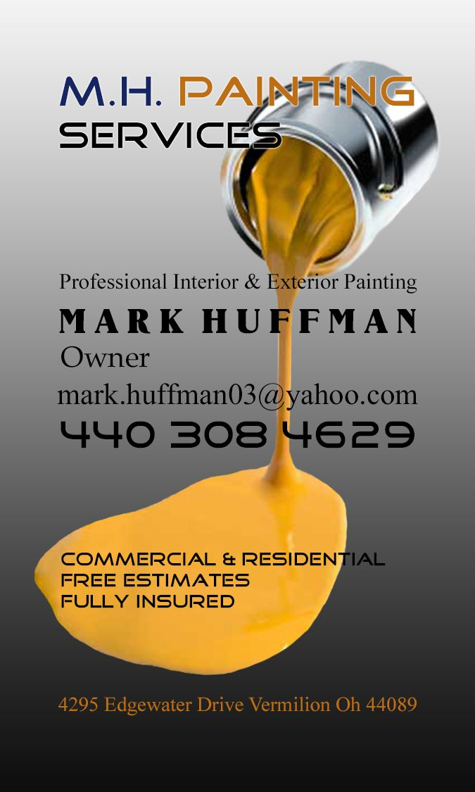 1000 images about commercial painting on pinterest On painting business cards