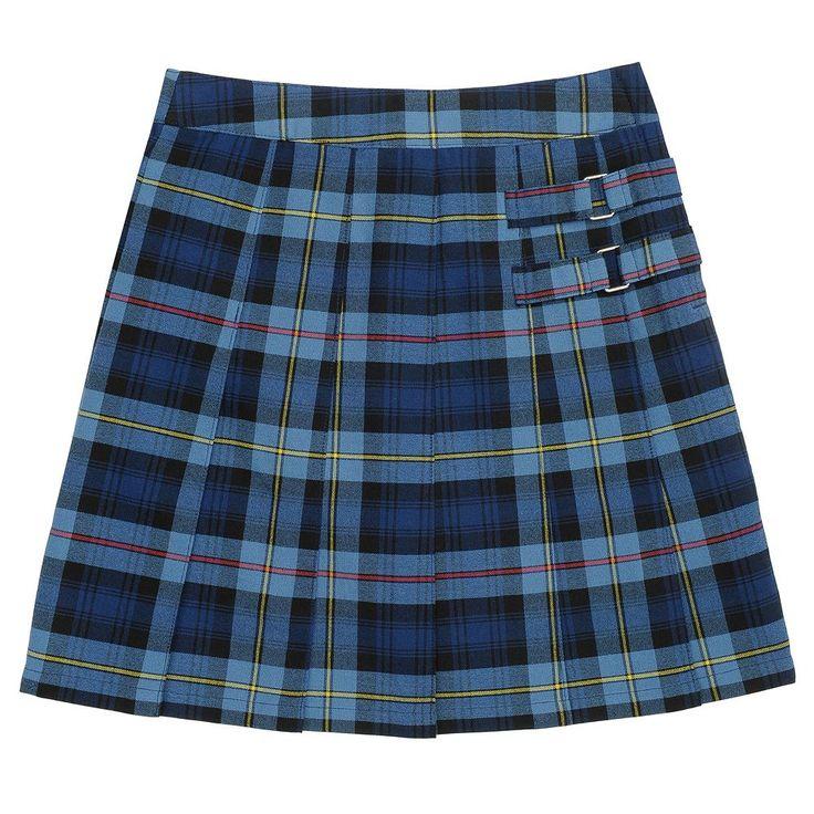 Girls 4-20 & Plus Size French Toast School Uniform Pleated Plaid Skort, Size: 20 Plus, Blue Other