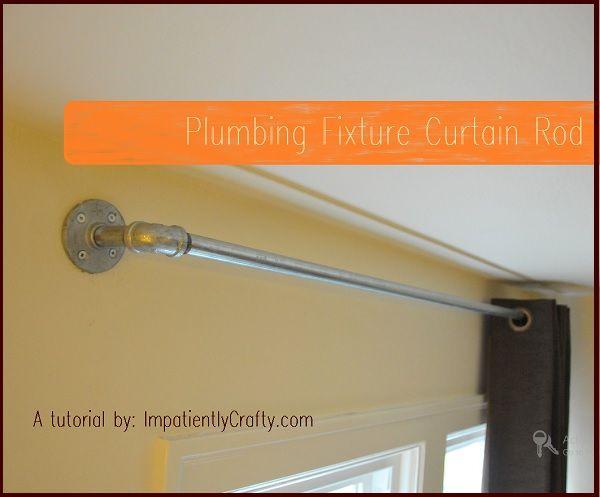 Tutorial: Industrial Plumbing Pipe Curtain Rods - super easy!
