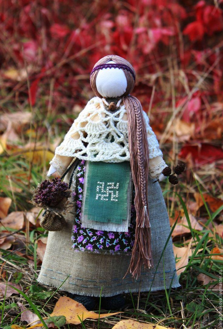 "Купить Кукла-оберег ""Лесная Берегиня"" - бежевый, народная кукла, славянская кукла, куклы обереги"