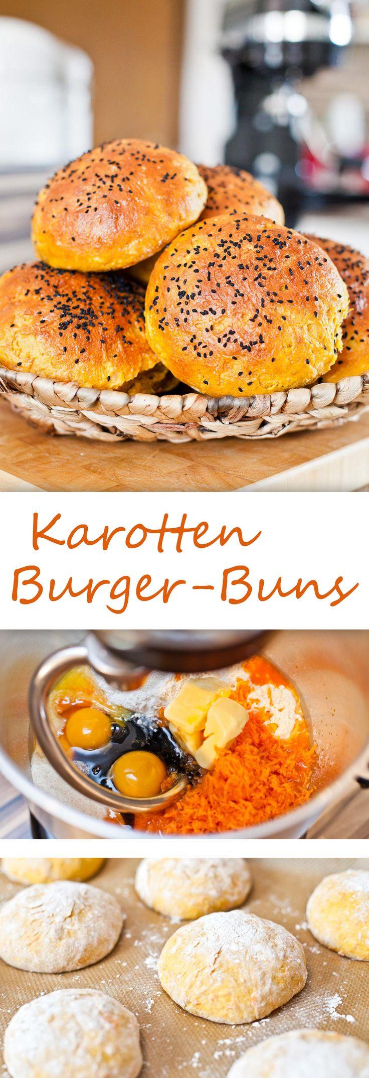 Karotten-Buns (Burger-Brötchen)