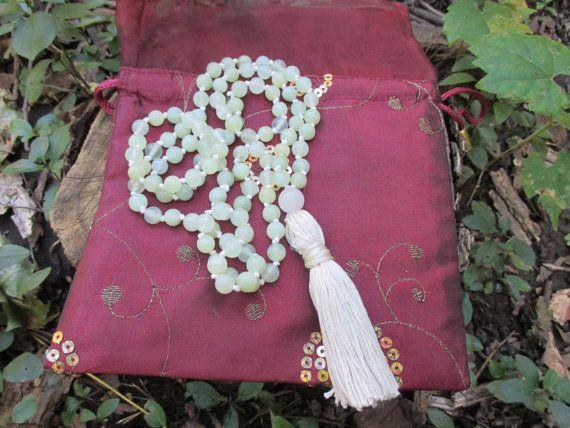 Lakshmi Jade Mala by StayingGrounded on Etsy