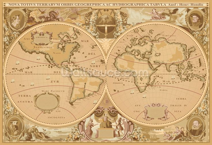 25 best ideas about world political map on pinterest for Classic world map wall mural