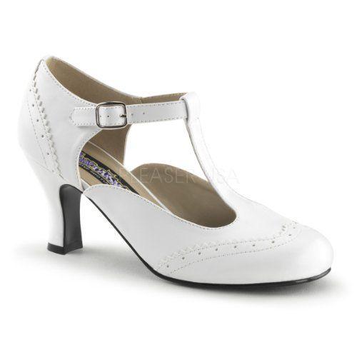 Funtasma Maryjane Trotteur-Pumps Flapper-26 mattweiß Gr.40 - http://on-line-kaufen.de/higher-heels/40-eu-funtasma-maryjane-trotteur-pumps-flapper-26-3