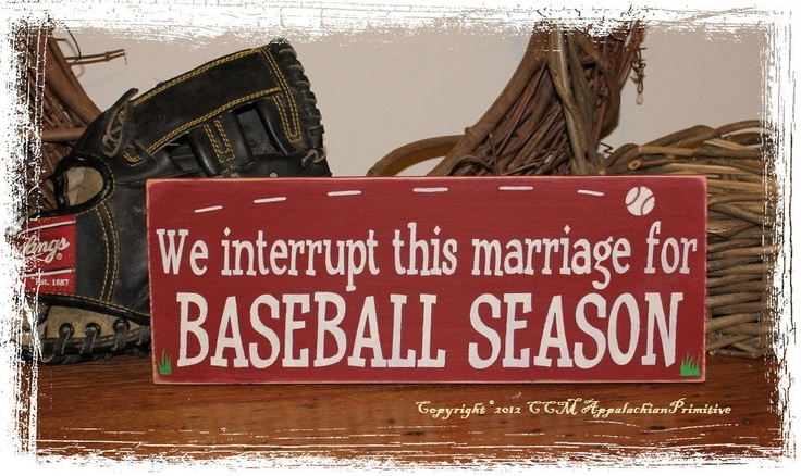 We Interrupt This Marriage for BASEBALL by AppalachianPrimitive, $15.00