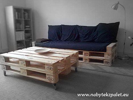 Pohovky   POHOVKA dvojsedák 80x220cm (výška 80cm)   Netradiční stylový nábytek - nábytek z palet.