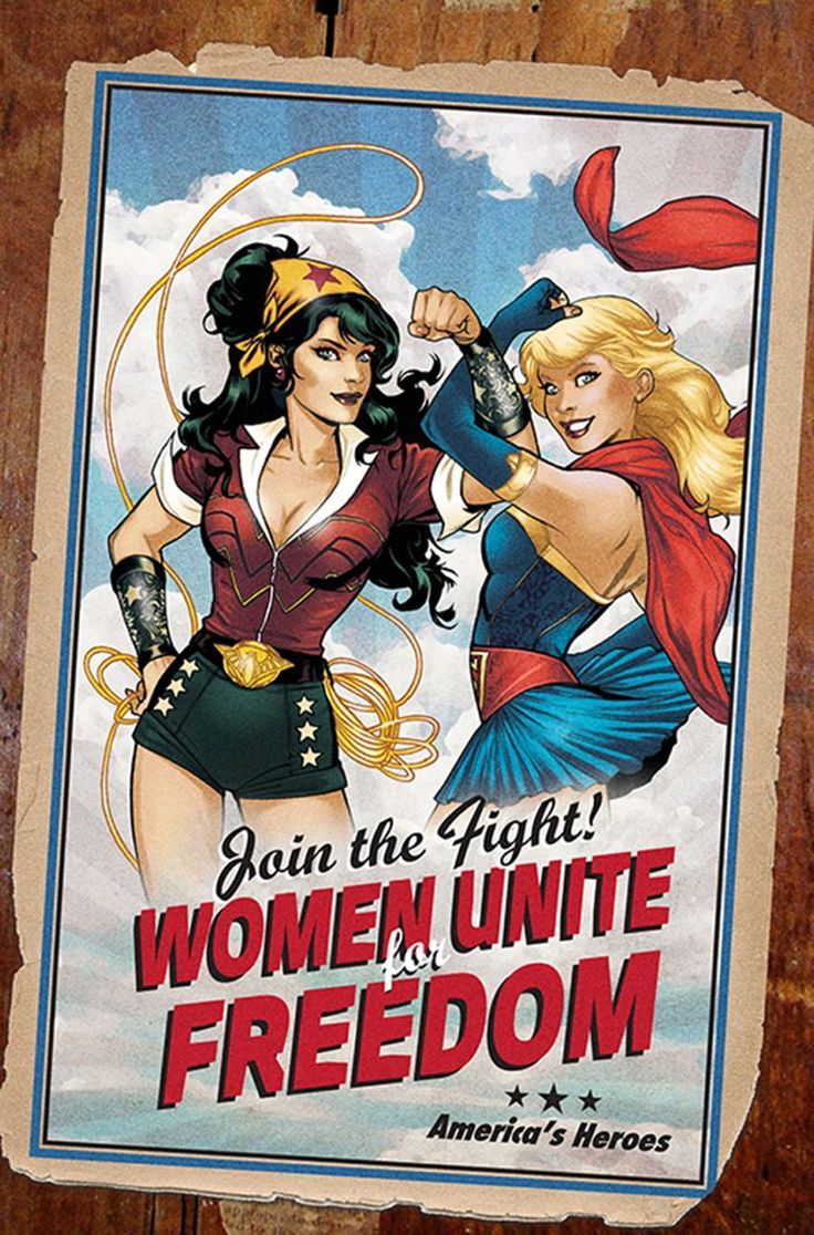 Wonder Woman and Supergirl — DC Comics bombshell variant covers designed by artist Ant Lucia for the June 2014 issues of 20 titles.