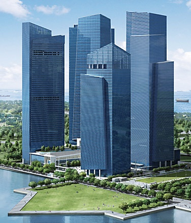 Singapore, Marina Bay Financial Centre Tower 2: Situated in the heart of Singapore's newest business and financial district, Marina Bay.