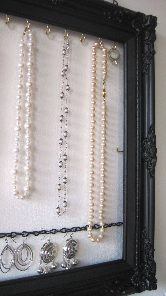 Hanging Jewelry Organizer &  Display  Handpainted  by ByTheBirds, $47.00