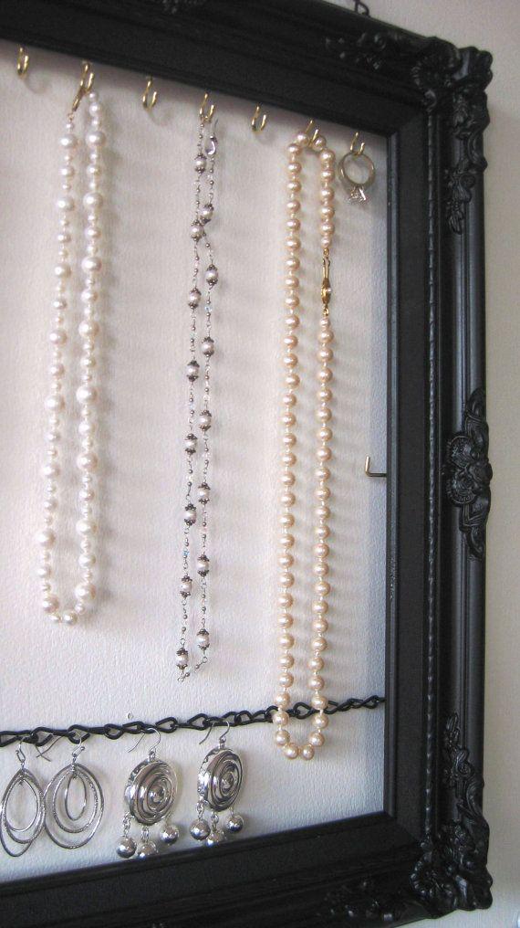 Hanging Jewelry Organizer &  Display  Handpainted  by ByTheBirds, $47.00