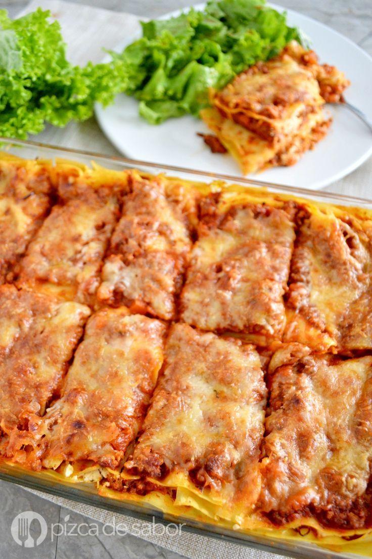 Lasagna o lasaña de carne fácil & deliciosa