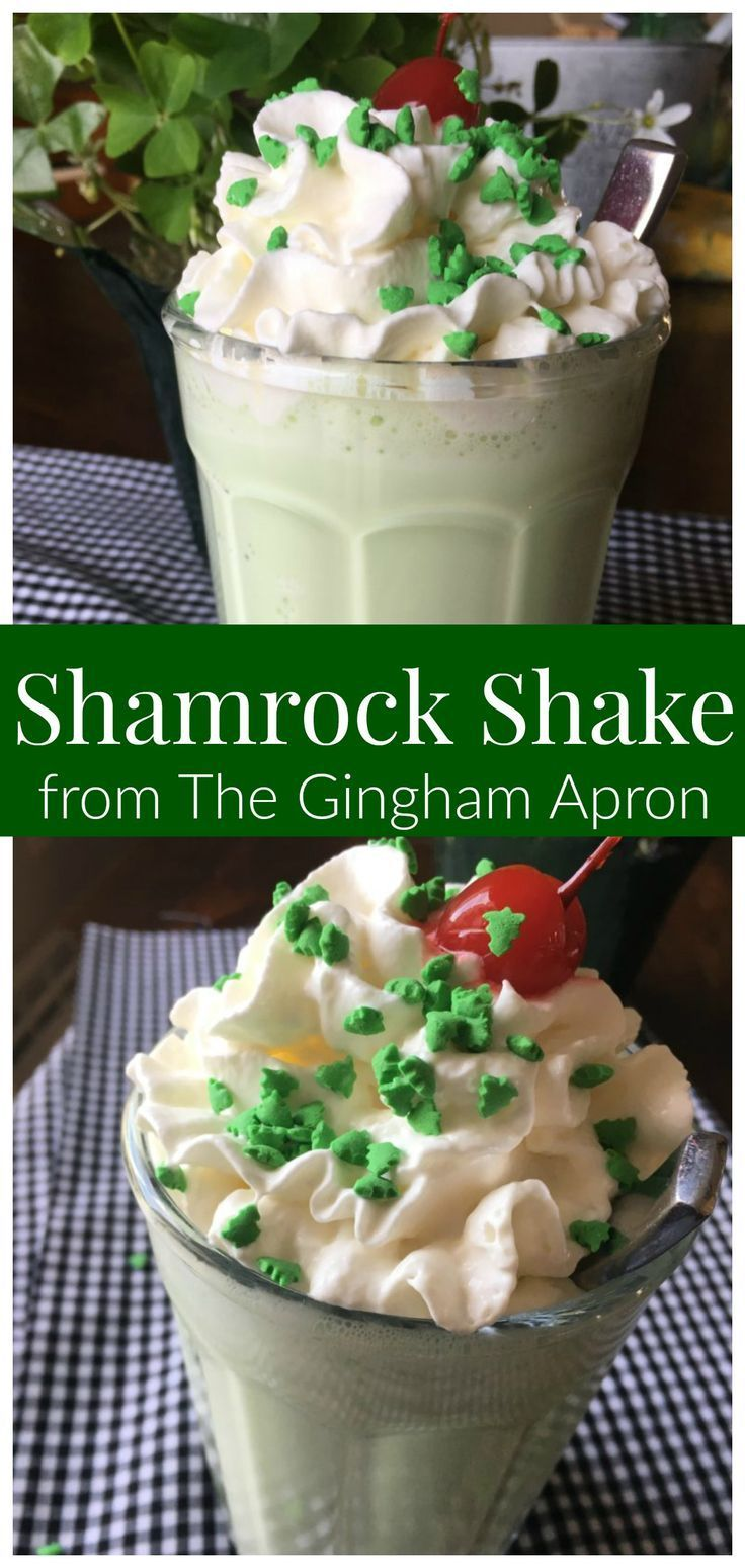 Shamrock Shake- what could be more fun and delicious than this minty St. Patrick's Day treat?