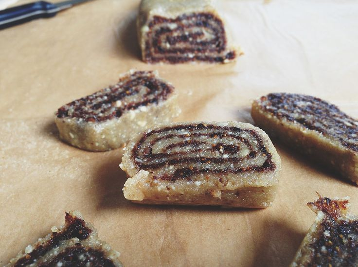 Raw Fig Newtons - but could use any dried fruit.  Dough  1 cup raw walnuts  1/2 cup raw cashews  Pinch of cinnamon  2 tablespoons raw agave nectar  1-2 teaspoons water    Fig Filling  2 cups dried figs firmly packed  1-2 tablespoons water