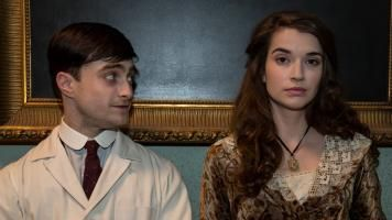 Daniel Radcliffe and Margaret Clunie