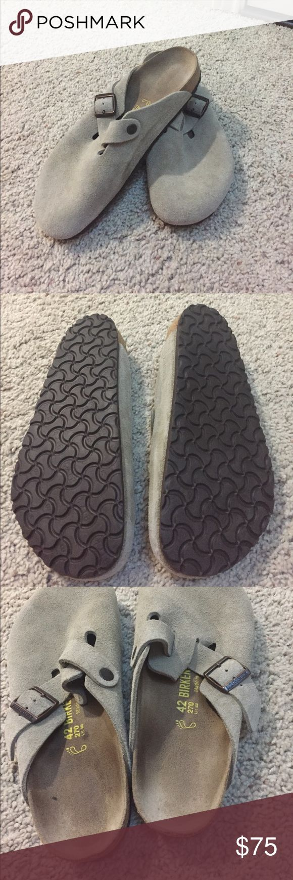 New without box Birkenstock tan slip ons Size 42. Never used. Great support for feet and in winter with cozy socks :) offers are welcome Birkenstock Shoes Sandals