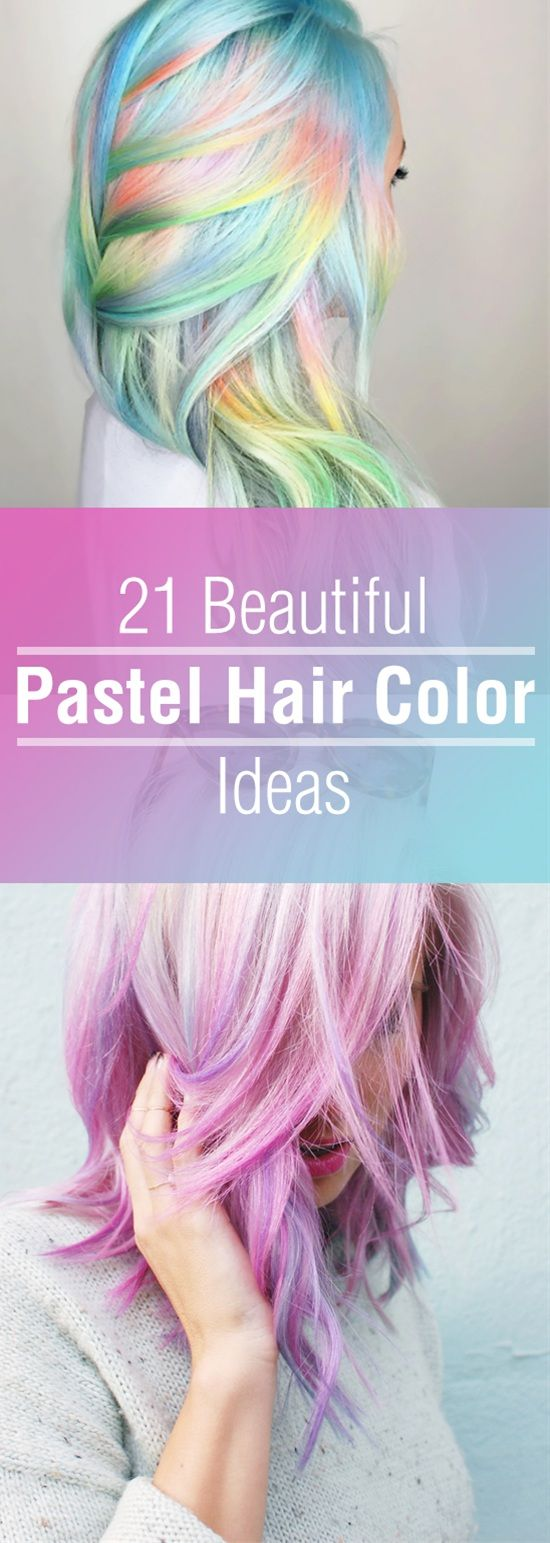 Pastel hair color are the trend now they may seem odd but they're definitely beautiful.