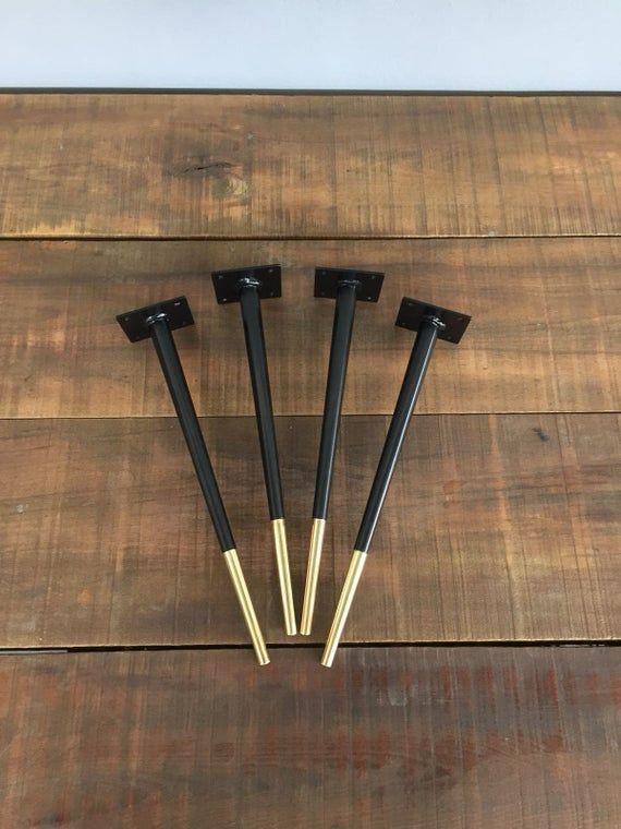 Metall Couchtisch Beine 20 Bitlis Stahl Messing Verjungt