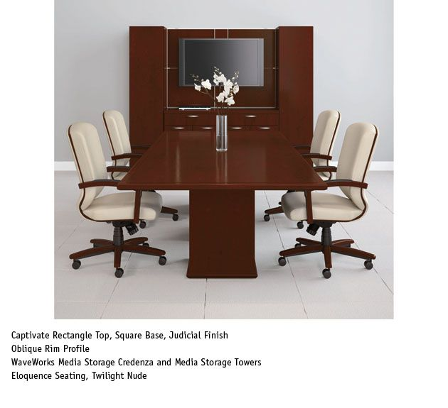 National Office Furniture Captivate Table With