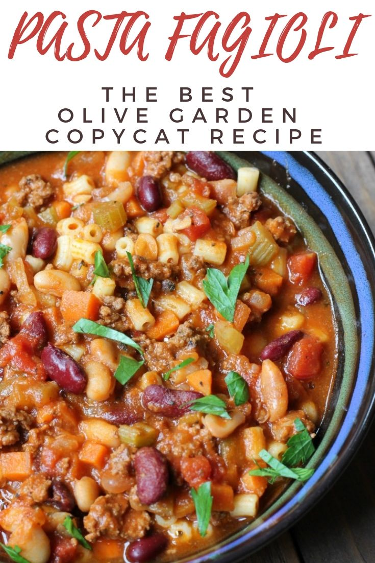 Pasta Fagioli (Copycat Olive Garden Recipe Soup