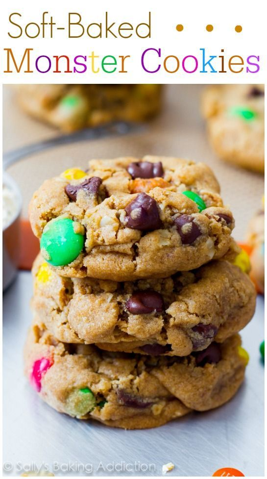 Monster Peanut Butter Cookies - the best monster cookies you'll ever make!