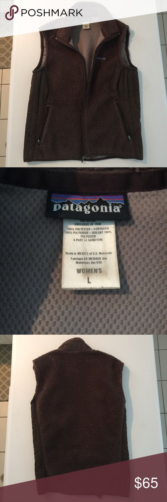 Chocolate Brown Patagonia Vest Chocolate Brown. Zipper pockets. Good used condition. Patagonia Jackets & Coats Vests